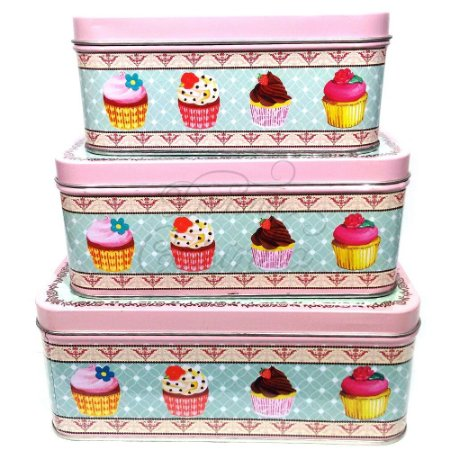 Latas Quadradas - Cupcake