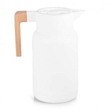 Garrafa Térmica Wood Branca  - TermoPro Glass