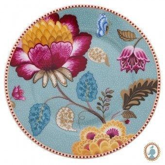 Prato de Pão - Azul Floral Fantasy PiP Studio