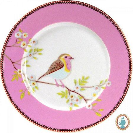 Prato De Sobremesa Early Bird Rosa Floral PiP Studio
