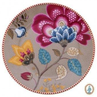 Prato de Pão Cáqui - Floral Fantasy - Pip Studio