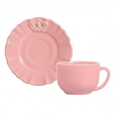 Xícara de Chá Windsor Premium - Rosa