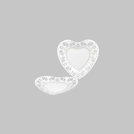 Prato de Coração com Renda - Pequeno 14,8 cm
