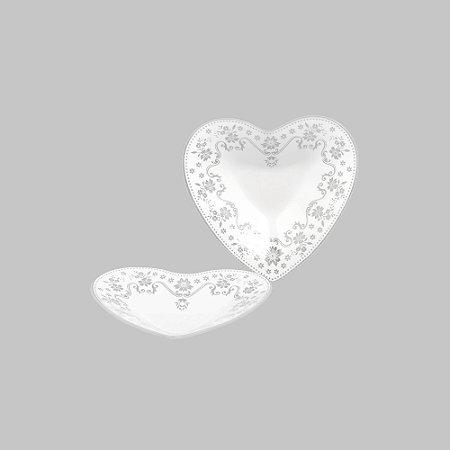 Bowl de Coração com Renda - Médio 17,5 cm