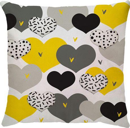 Capa de Almofada Coração Amarelo