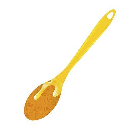 Colher de Silicone Calda Amarela 30,5 cm