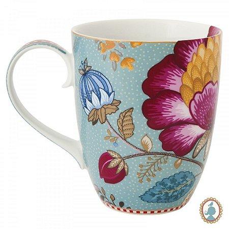 Caneca Grande Fantasy Azul  Floral Fantasy  PiP Studio