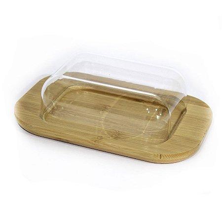Manteigueira de Bambu com Tampa de Plastico - Ecokitchen