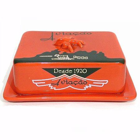 Manteigueira Cerâmica - Manteiga Aviação