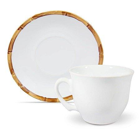 Xícara de Chá de Cerâmica Bambu 200ml - Scalla