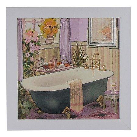 Quadrinho para Banheiro Vintage Banheira