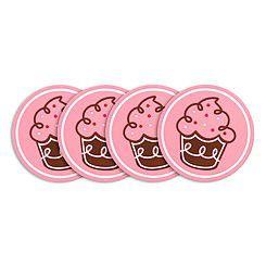 Set com 4 Porta Copos - Cupcake