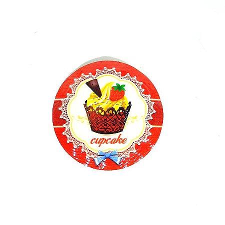 Imã de Geladeira Red Cupcake