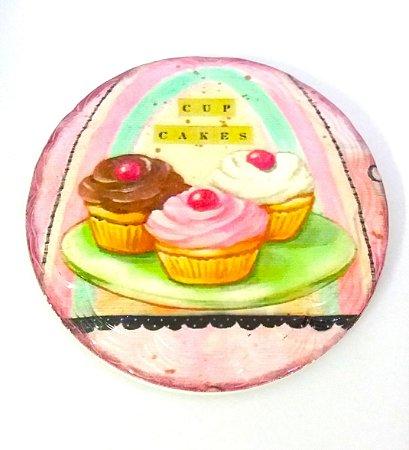 Imã de Geladeira Cupcakes