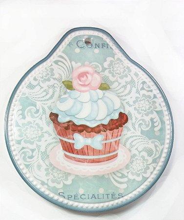 Descanso Panela Cupcake Candy AZul