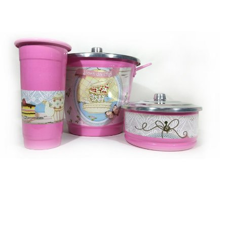 Kit para Pia - Teaparty Rosa Médio