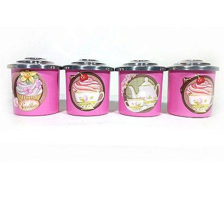 Porta Condimentos Teaparty - Rosa Médio