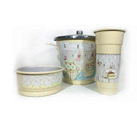 Kit para Pia - Teaparty Creme