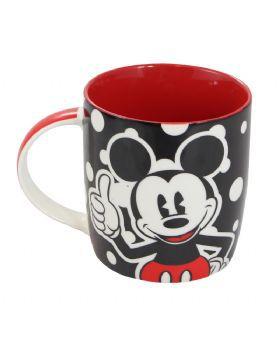 Caneca Mickey Poa Vermelho e Preto