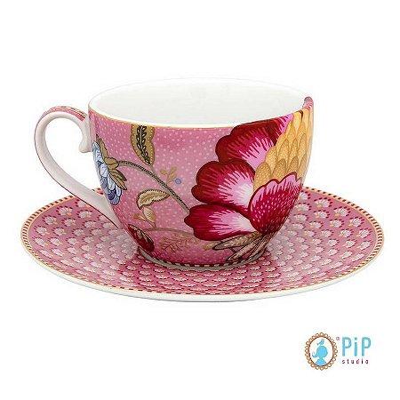 Xícara de Chá Floral Fantasy - Rosa - PiP Studio