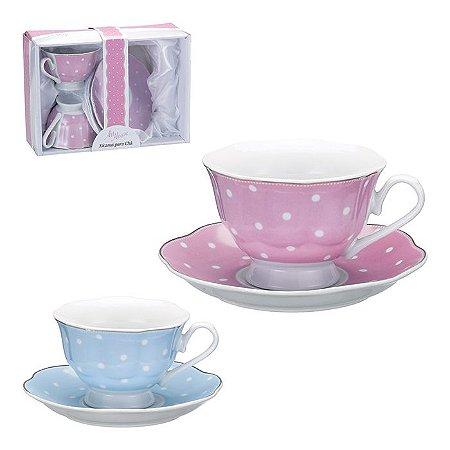 Jogo de Xícara para Chá - Poá