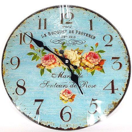 Relógio Vintage Floral
