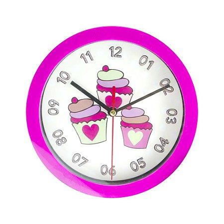 Relógio de Parede Pink Cupcake