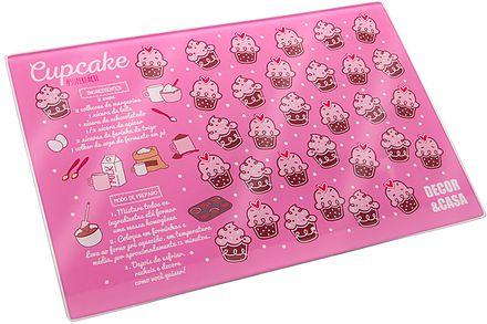 Tábua de Corte Cupcake Rosa