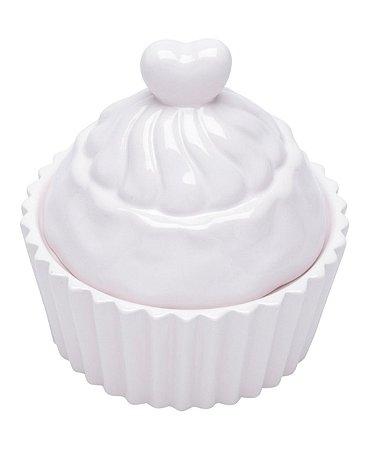 Pote Decorativo Cerâmica - Cupcake Rosa Claro