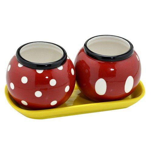 Jogo de Vasos - Minnie e Mickey Redondo