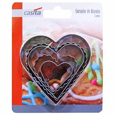 Cortador de Biscoitos Formatos Coração