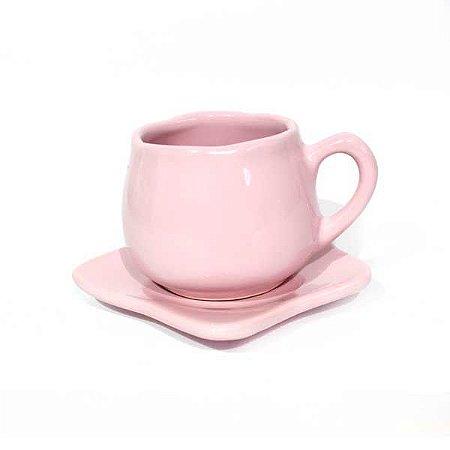 Xícara de Chá com pires Tulipa