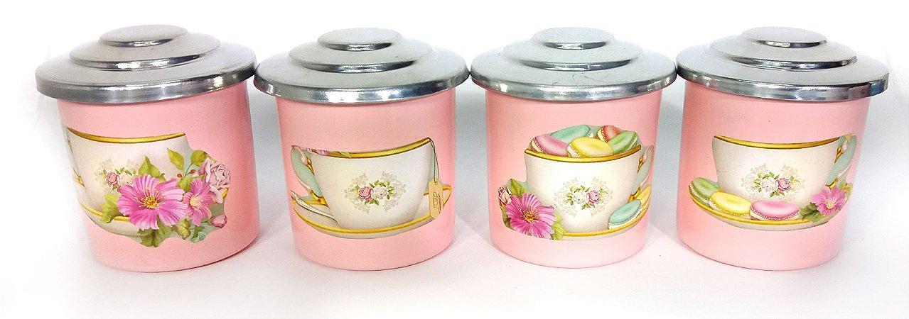 Porta Condimentos Macaron - Rosa Bebê