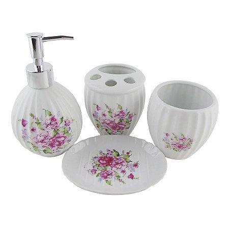 Kit para Banheiro - Vintage Flores