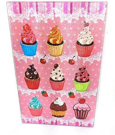 Tábua de Vidro - Cupcake