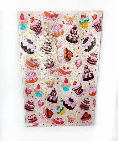 Tábua de Vidro - Cupcake Docinhos