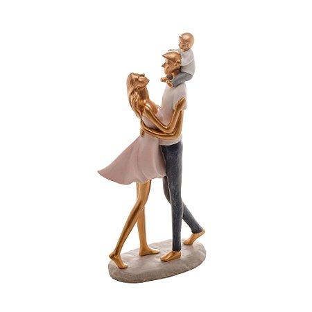 Enfeite Figura Família Decorativa Resina