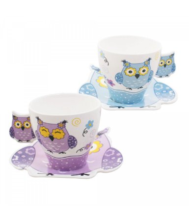 Xícaras de Chá - Corujas - Dupla