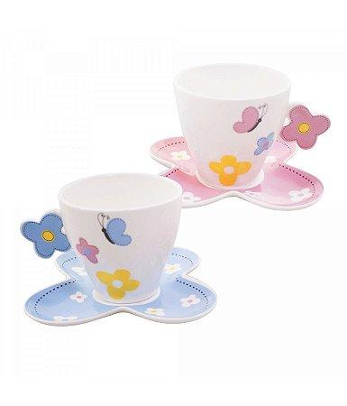 Xícaras de Chá - Borboletas