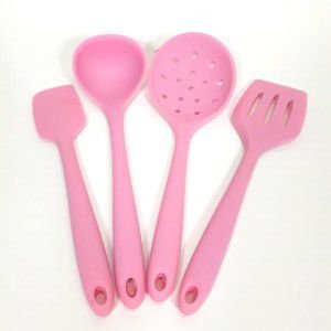 Kit 4 Mini Utensílios Rosa