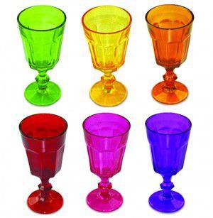 Jogo de Taças Coloridas - Wincy