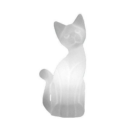 Luminária Gato Magrelo Branca Bivolt