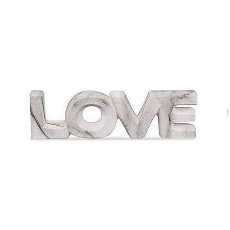 Palavra Decorativa Mármore Love em Cerâmica