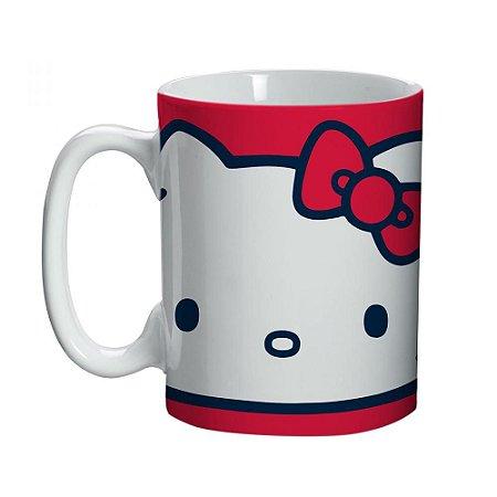 Mini Caneca Vermelha Face - Hello Kitty