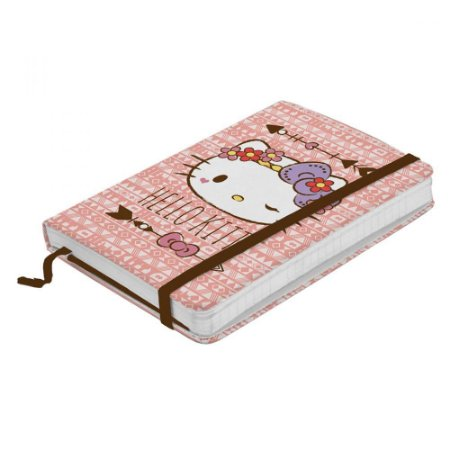 Caderneta Anotação Pink Hello Kitty Grande