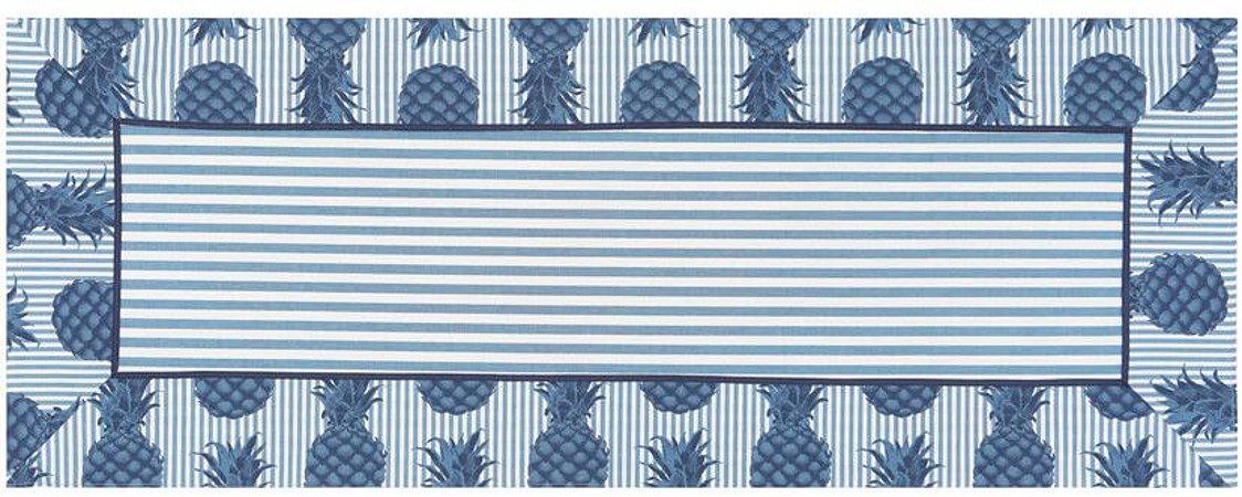 Caminho de Mesa Abacaxi Azul