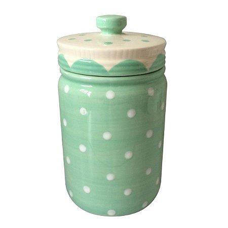 Pote Poá Candy em Cerâmica Verde Água