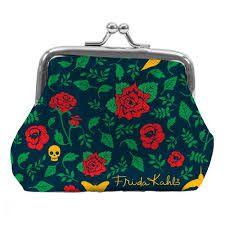 Porta Moedas Skull and Flowers - Frida Kahlo