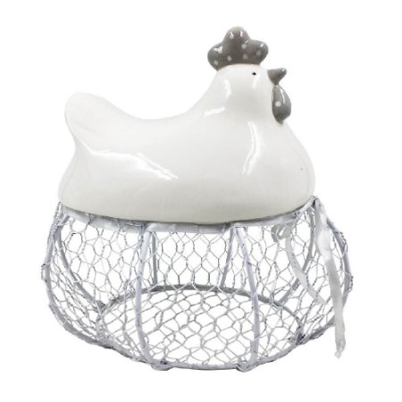 Porta Ovos Metal Cute Hen