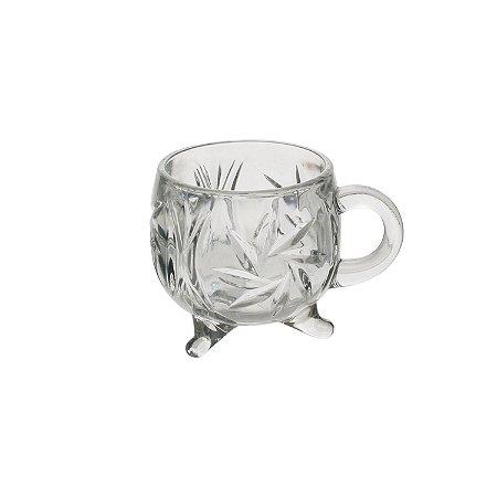 Copo com Pé e Alça de Cristal de Chumbo Prima 135ml - Lyor